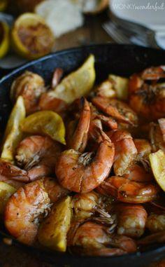 New Orleans Barbecue Shrimp Recipe - Barbeque Bbq - cajun shrimp - wonkywonderful.com