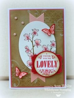 Stampin' Up! Card by White House Stamping: Lovely Pink Orchids...