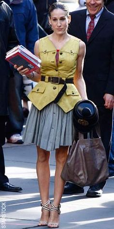 Carrie Bradshaw, fictional character from the show Sex in the City is know for her Manhattan chic style