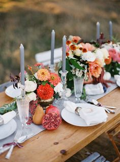 Colorful #fall wedding tabletop inspiration.