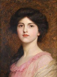 Frank Dicksee (English Pre-Raphaelite Painter, 1853-1928) Camille Sutton Palmer