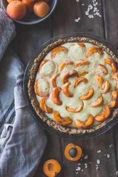 Apricot Custard Pie with Cardamom Crumble Crust