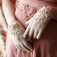 woman fashion, party dresses, fashion models, vintage lace, vintage pink, crochet gloves, vintag glove, heart designs, vintage style