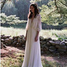 Im liking the whole bohemian wedding look