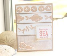 Linen Background, Sea Life, Horizontal Stitched Strips Die-namics, Sea Life Die-namics - Lisa Johnson #mftstamps