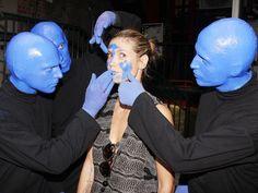 PROJECT RUNWAY host Heidi Klum gets a BLUE MAN GROUP makeover