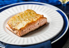 "Salmon With Potato ""Scales"" 