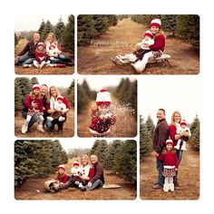 Family, Kids, Christmas, Outside, Props, Poses. I like the idea of using an old wooden sled but I would put it on a white sheet or some faux snow