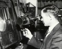 https://www.facebook.com/photo.php?fbid=791477340884225 Clyde Tombaugh at a machine called a Zeiss Blink Comparator, used in the discovery of Pluto.