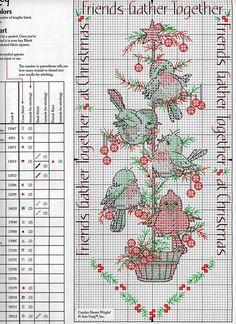 cruz navidad, bookmark, crossstitch, cross stitch patterns, de cruz, bird cross, cross stitches, friend, christma