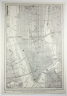 Old map of New York City c. 1900