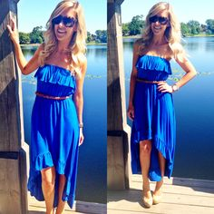 The perfect casual chic dress to rock all day long! The Ruffled in Blue Hi Lo Dress is now available online at sophieandtrey.com in blue and in-store at 4th in black, lime, and blue for $29.99! To order in-store colors call 407.878.6656!