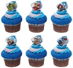 24 The Avengers Cupcake Rings Birthday Party Hulk Iron Man Thor Captain America | eBay cupcak ring, birthday, party supplies, cake decorations, goodie bags, cupcake cakes, cupcake toppers, the avengers, parti