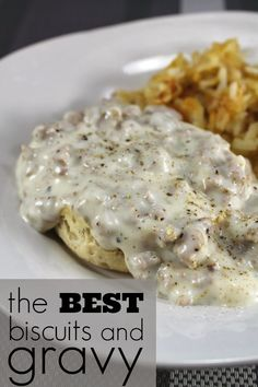 sausag, biscuits and gravy