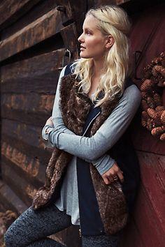 Freja Faux-Fur #Vest #Anthropologie