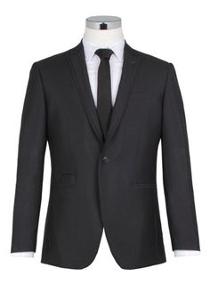 One button peak lapel jacket