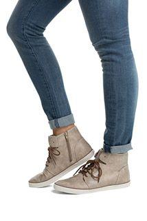 Esprit vegan lace-up trainer ankle boots