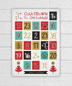 Printable Countdown to Christmas Advent Calendar
