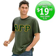 Pigment-Dyed Fraternity T-Shirt $19.99 #Sale #Fraternity #Clothing #Greek #Apparel sale fratern, pigmentdi fratern, fratern cloth, fratern tshirt