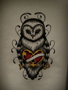 Owl tattoo. .Maybe my next... lol  #tattoo  # I love tattoos