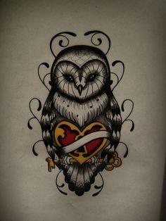 Awesome owl tattoo design. #tattoo #tattoos #ink