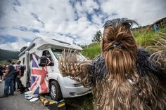 The Alpe is the place to find all manner of creature — including a frisky wookie on the final climb. Photo: BrakeThrough Media | VeloNews.com