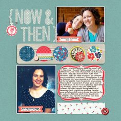 Ideas for Mixing Old and New Photographs on a Scrapbook Page | Heather Awsumb | Get It Scrapped