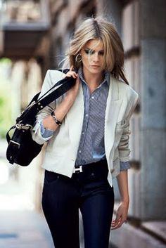 Chloe blazer. Ralph Lauren shirt. Hermes belt