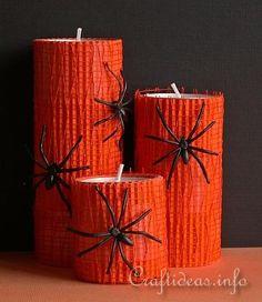 Halloween Spiders Tea Light Holders