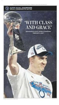 Memorable Peyton Manning covers: With Class and Grace