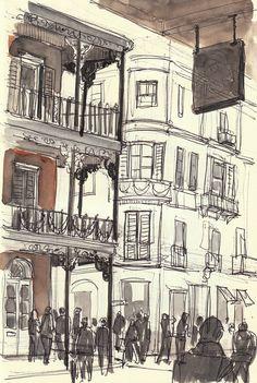 french quarter sketch