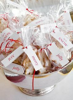 lovely Christmas cookie packages.