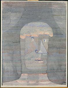 Atleta Head  Paul Klee (alemán (nacido en Suiza), Münchenbuchsee 1879-1940 Muralto-Locarno)  Fecha: 1932 Medio: Acuarela, gouache y grafito sobre papel Dimensiones: H. 24-3/4, 18-7/8 pulgadas W. (62,9 x 47,9 cm.) Clasificación: Dibujos Línea de crédito: La Colección Berggruen Klee, 1987
