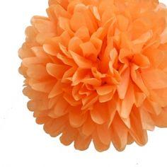 Orange Tissue Paper Pom Poms Party Kit (Set of 12)
