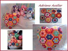 Trico  Croche: crochet cushion