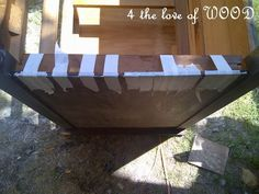 Repairing those treasures ... 4 the love of wood: VENEER - edge gluing with gravity