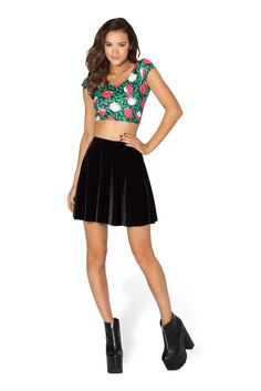 Painting The Roses Red Nana Suit Top by Black Milk Clothing $50AUD