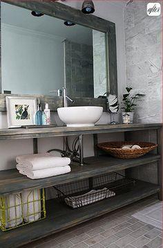 DIY Vanity in Renovated Bathroom