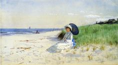 It's About Time: Beach - Waterside. Alfred Thompson Bricher (American artist, 1837-1908) Summer Reverie .