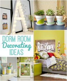 Cool Dorm Room Decorating Ideas with lots of DIY projects to save you money