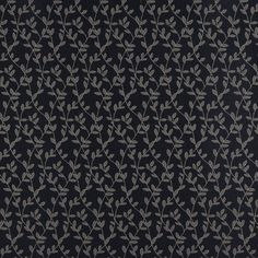 Upholstery Fabric K5435 Cobalt vine Automotive Fabric, Damask/Jacquard, dark blue leaf pattern