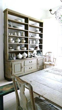 Large painted dresser.