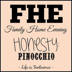 Life Is Fantasmic: FHE: Honesty - Pinocchio church stuff