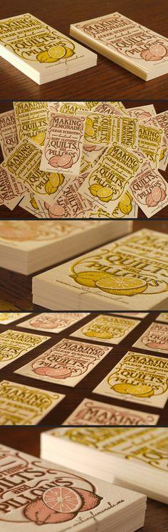 #houseofbranding | Lemonade Business Cards from Print & Grain