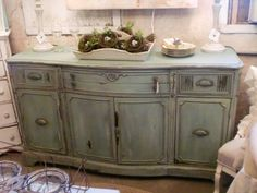 buffet painted with chalk paint