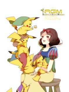 Snow White and the 7 Pikachu...  Adorable!
