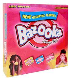 assort 120ct, bubbl gum, candies, bubbles, bazooka bubbl, candi store, bubble gum, retro candi