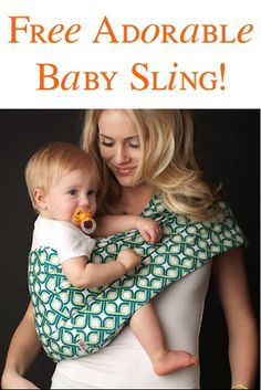 FREE Adorable Baby Sling!  {+ s/h} ~ these make great Baby Shower gifts, too! #babies