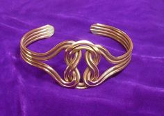 Copper Celtic Knot Bracelet Wellbeing Ancient Magic by celtsmith, $35.00