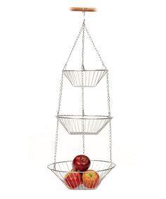 Chrome Hanging Fruit Basket